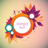 Flower abstract  banner. Flower abstract  background text frame vector illustration Stock Image