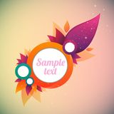 Flower abstract  banner Royalty Free Stock Photography