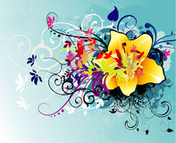 Flower abstract illustration Royalty Free Stock Photography