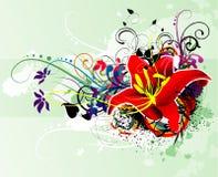 Flower abstract illustration Stock Photos