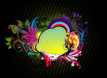 Flower abstract illustration Royalty Free Stock Photo