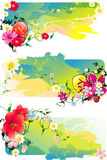 Flower abstract illustration Stock Photos