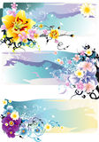 Flower abstract illustration Royalty Free Stock Images