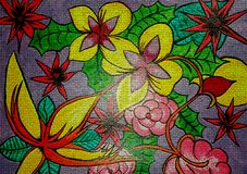 Flower abstract painting on canvas created background design. As abstract wallpaper stock images