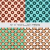 Flower abstract set seamless pattern Stock Photo