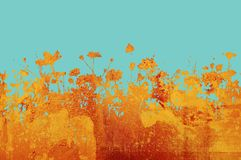 Flower abstract textures and b Royalty Free Stock Photo