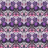 Flower abstract tribal vintage ethnic paisley pattern. Stock Images