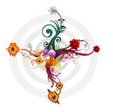 Flower abstract vector. Composition illustration over a white background Royalty Free Stock Photography