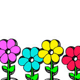 Flower abstract vector floral icon element design Stock Photo