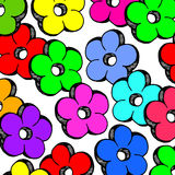 Flower abstract vector floral icon element design Stock Images