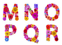 Flower alphabet Royalty Free Stock Photo