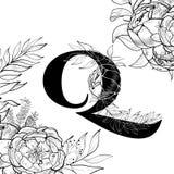 Flower Alphabet Letter J Pattern Stock Vector Illustration Of Sign
