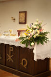 Flower in altar Royalty Free Stock Image