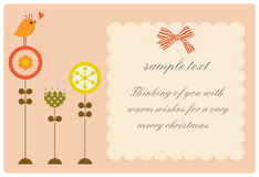 Free Flower And Bird Text Royalty Free Stock Photo - 8232295