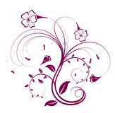 Flower And Vines Pattern Royalty Free Stock Images