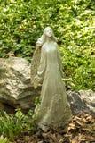 Flower Angel Statue Stock Image