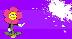 Flower angry cartoon funny background7 Stock Photo