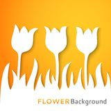 Flower applique background. Vector illustration Stock Photos