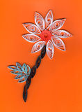 Flower applique with quilling Stock Photos