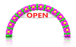 Flower Arch Balloons - Opening Ceremony Royalty Free Stock Images