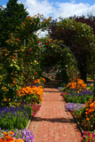 Flower arch in garden, Graz Royalty Free Stock Photography
