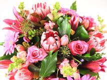 Flower arrangement. A beautiful pink flower arrangement Royalty Free Stock Images