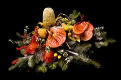 Flower arrangement. On a black background Stock Photography