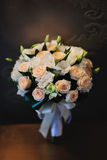 Flower Arrangement. On a brown background Stock Images