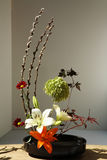 Flower Arrangement. (ikebana) created after the style used in Japanese culture Stock Photography