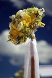 Flower arrangement. On a beach wedding Stock Photo