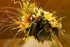 Flower arrangement with bamboo Stock Images