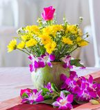 Flower arrangement in the party Stock Image