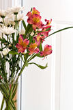Flower Arrangement with Lillies Stock Photo
