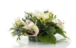 Flower arrangement with lilys and freesia Royalty Free Stock Photography