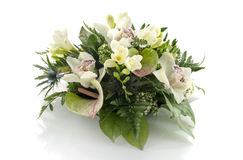Flower arrangement with lilys freesia Stock Photography