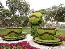 Flower arrangement in Lima Reserve Park, Peru royalty free stock image