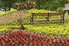 Flower arrangement in Rochford Square in Charlottetown Stock Photo