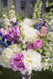 Flower arrangement. With roses and peonies Stock Photography