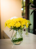 Flower arrangement at the wedding Stock Photography