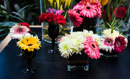 Flower arrangement at the wedding Stock Photo