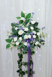 Flower arrangement at wedding Stock Photos