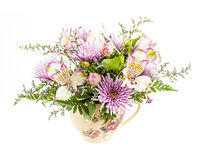 Flower arrangement on white Royalty Free Stock Photo