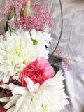 Flower arrangement. White pink flower arrangement Stock Image