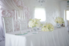 Flower arrangements on the table Stock Photography