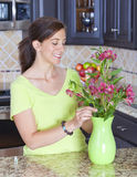 Flower arranging Stock Photography