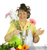 Flower Arranging Housewife Stock Photos