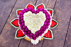 Flower art. In a shape of a heart for wedding ceremony vector illustration