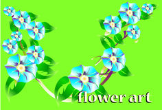 Flower art line and borders Stock Photo