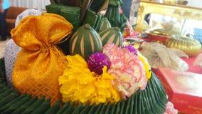 Flower art in wedding ceremony Stock Photos