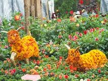 Flower Art - Year of Goat Royalty Free Stock Photo